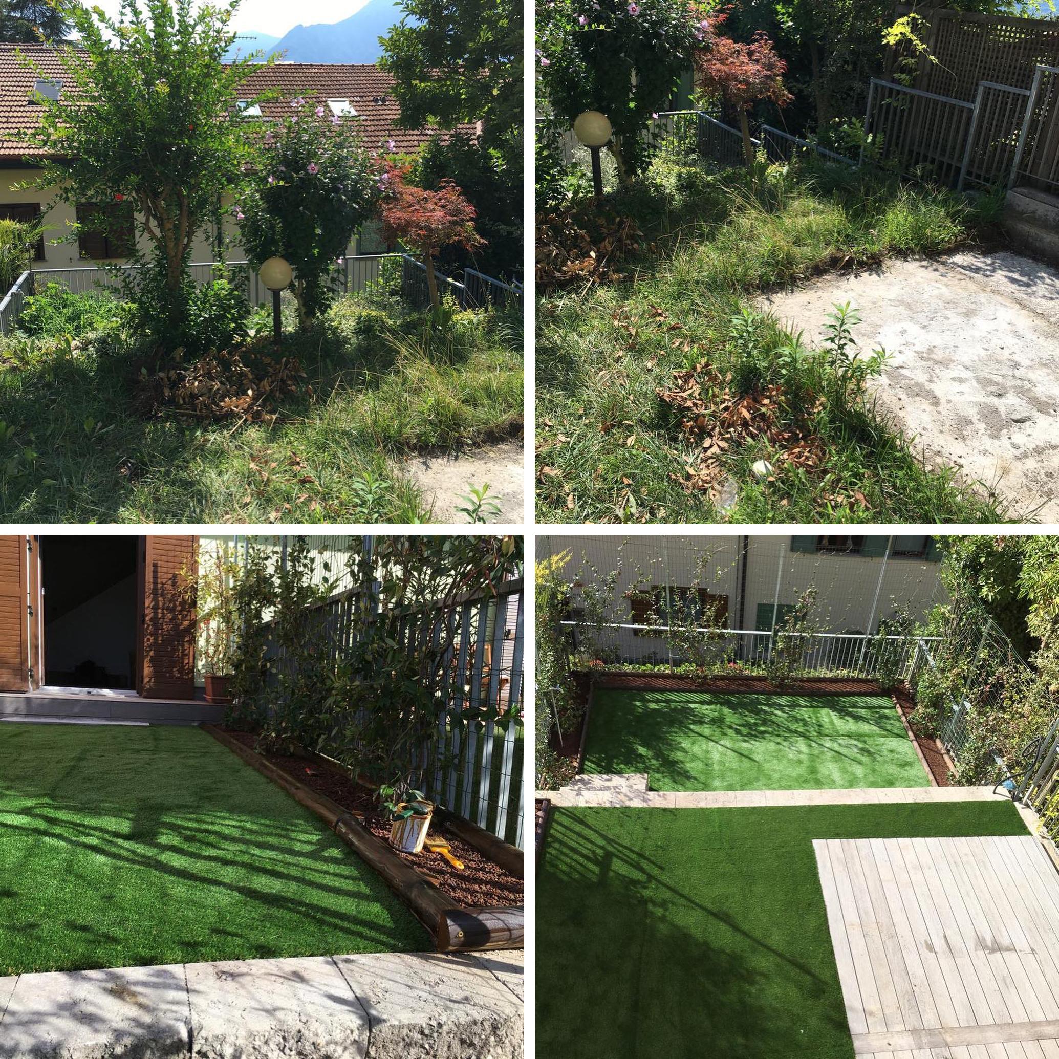 E anche per questo giardino, il prima e il dopo sono impressionanti!